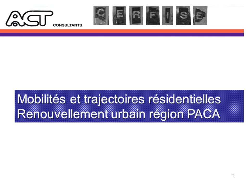 2 Les opérations 0pérationBailleurs sociaux Démolitions de logements prévues RelogementReconstruction Marseille, Plan dAou 915 lgts de 1971 Logirem, Provence Logis Phocéenne (Erilia) 629 entre 1989 et 2003 258 à partir de 2005 (30 en 2007) 492 depuis 1995, Dont 185 hors site (109 décohabit.) 307 sur site (57 décohabitations) 173 lgts neufs (dont 98 pour relogt) 1997-2007 + 43 lgts réhab.