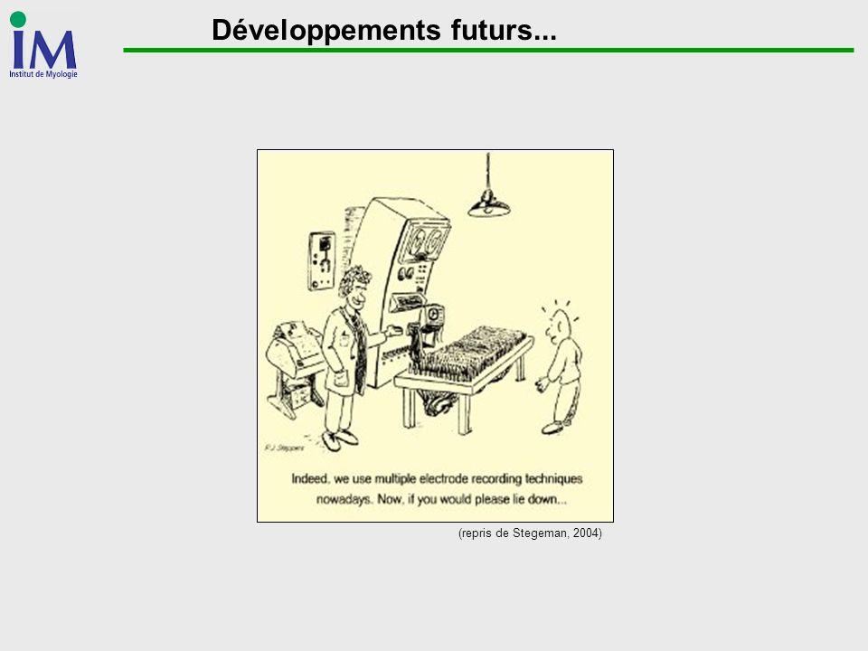 Développements futurs... (repris de Stegeman, 2004)