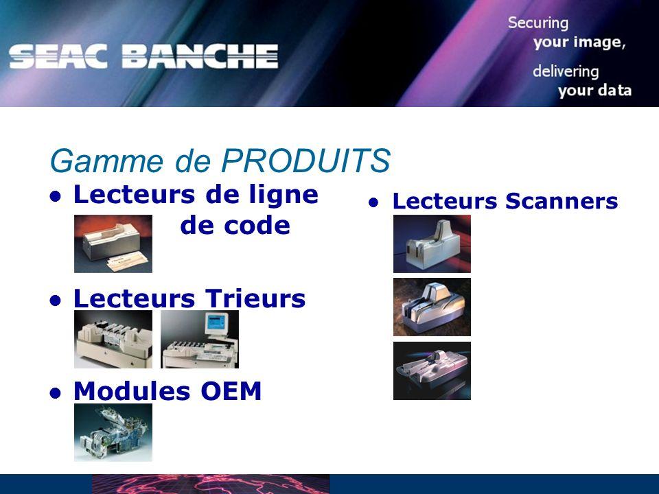 Lecteurs de ligne de code Lecteurs Trieurs Modules OEM Gamme de PRODUITS Lecteurs Scanners
