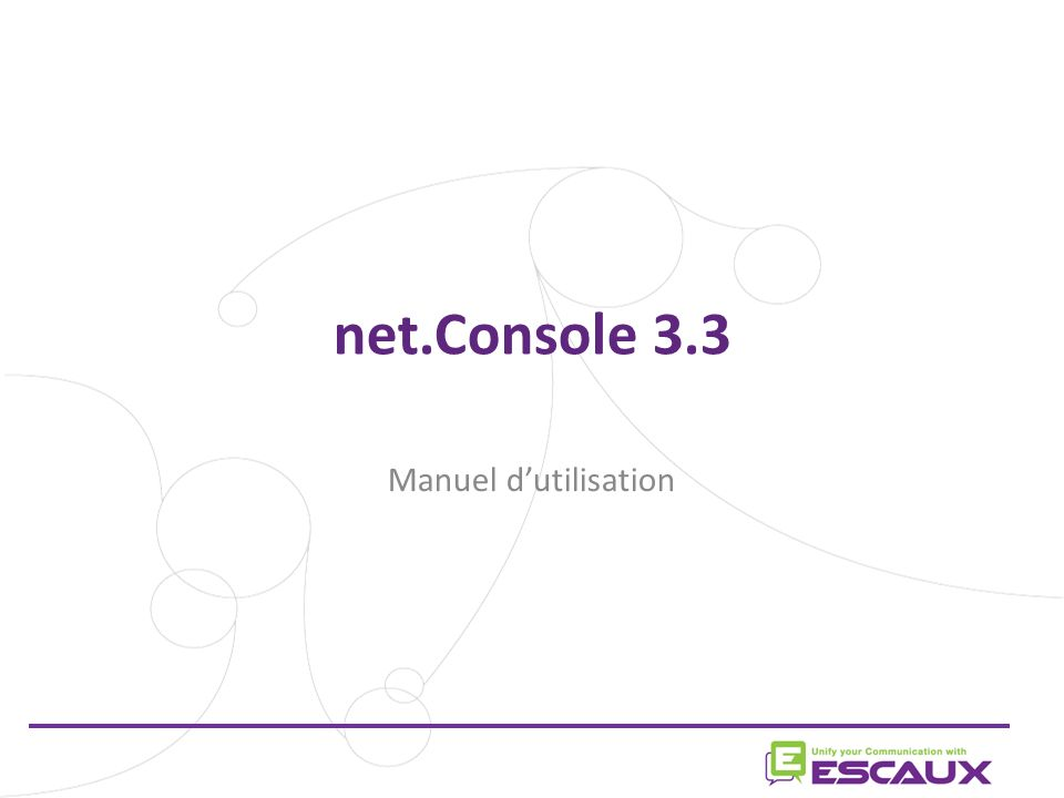 net.Console 3.3 Manuel dutilisation