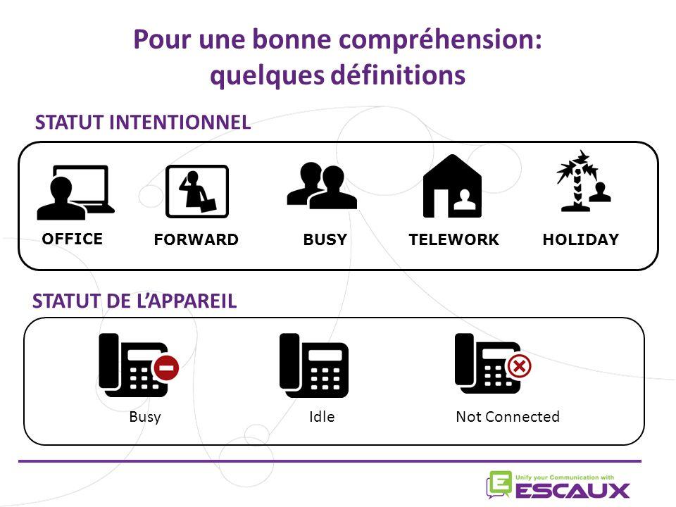 www.escaux.com Cornet ou casque Choisissez votre façon de répondre aux appels: avec le casque ou avec le cornet du téléphone Ces options ne sont plus supportées.