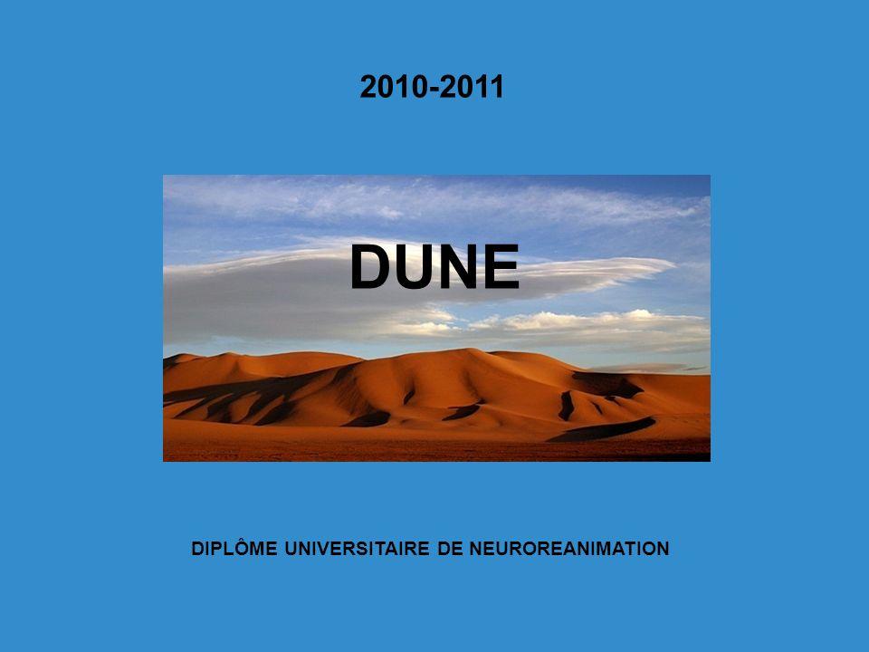 2010-2011 DUNE DIPLÔME UNIVERSITAIRE DE NEUROREANIMATION