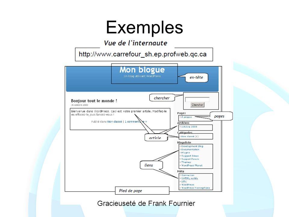 Exemples Gracieuseté de Frank Fournier