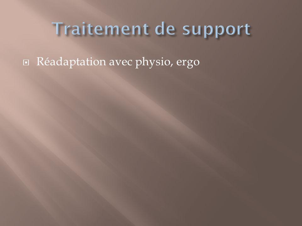 Réadaptation avec physio, ergo
