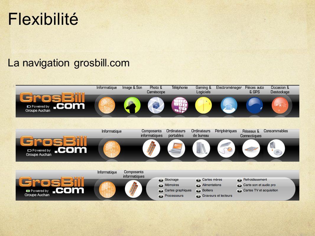 Flexibilité La navigation grosbill.com
