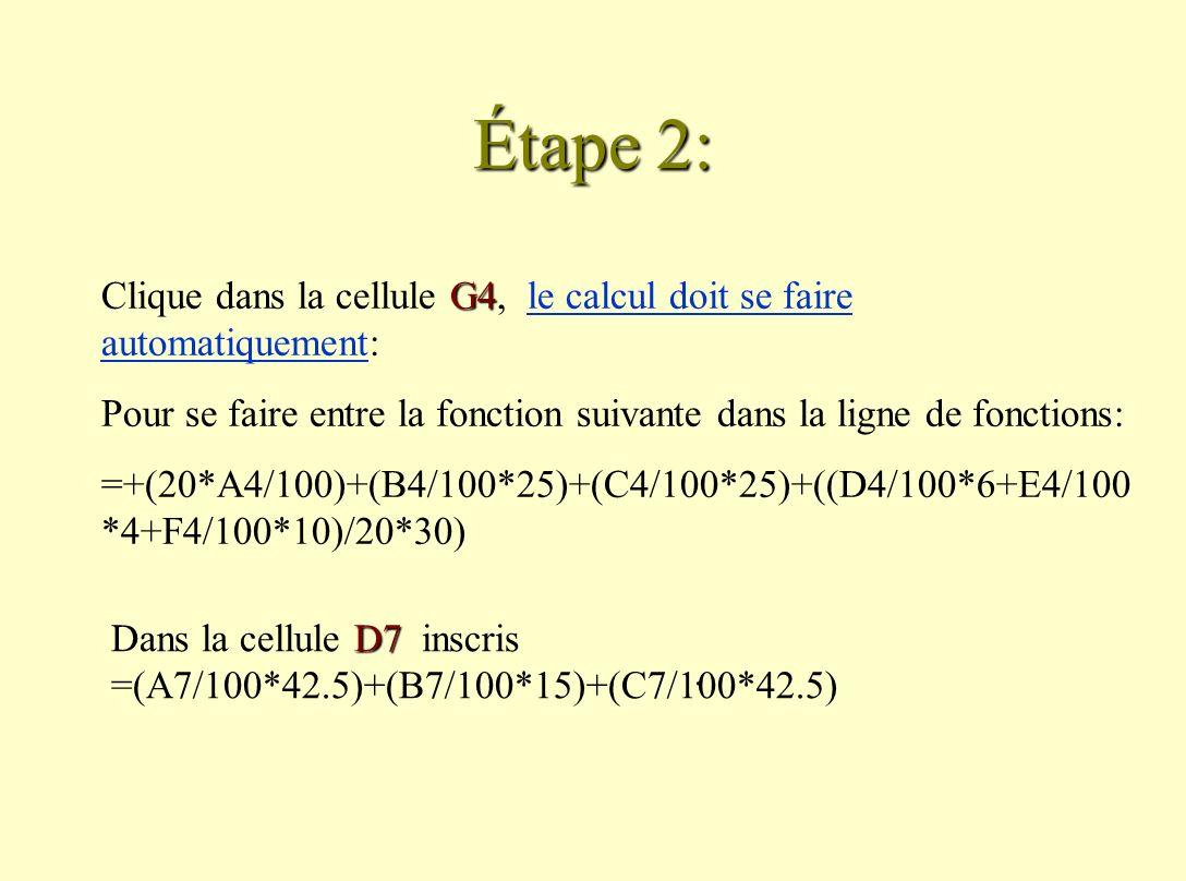 Étape 2:.