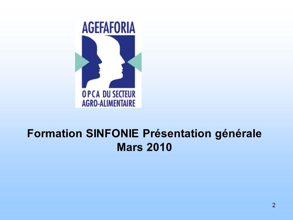 2 Formation SINFONIE Présentation générale Mars 2010