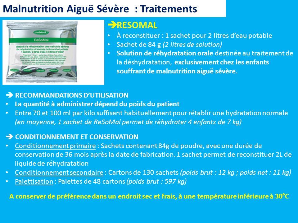 RESOMAL À reconstituer : 1 sachet pour 2 litres deau potable Sachet de 84 g (2 litres de solution) Solution de réhydratation orale destinée au traitem