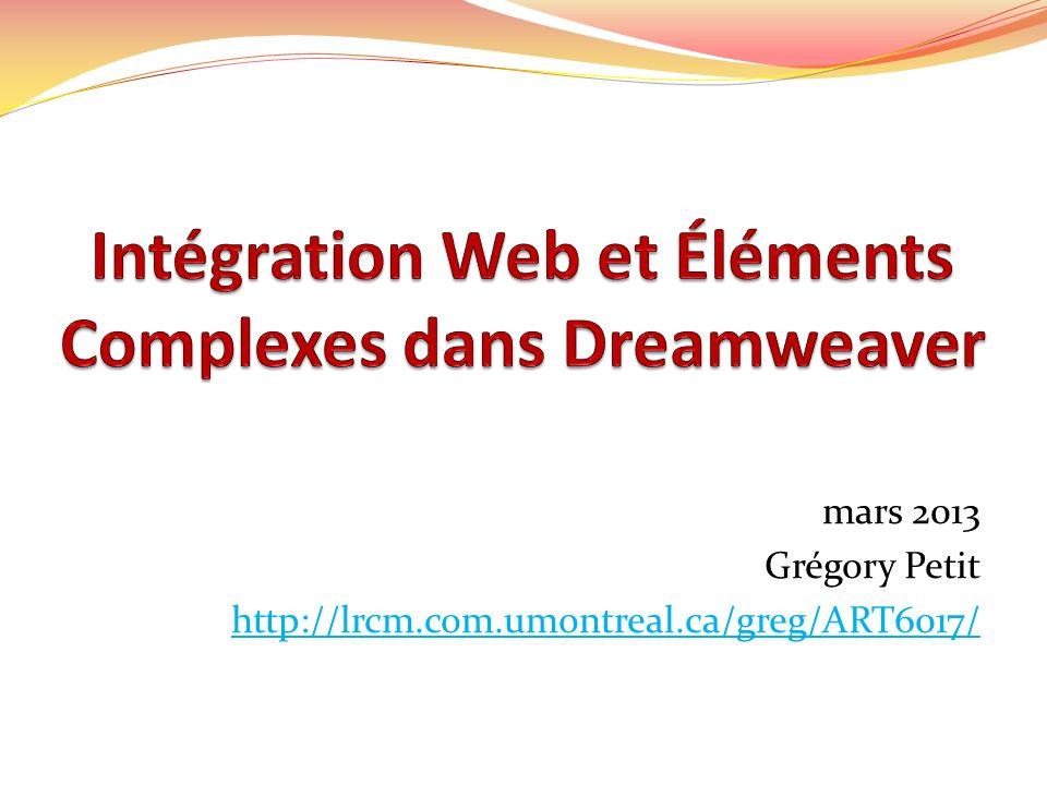 mars 2013 Grégory Petit http://lrcm.com.umontreal.ca/greg/ART6017/