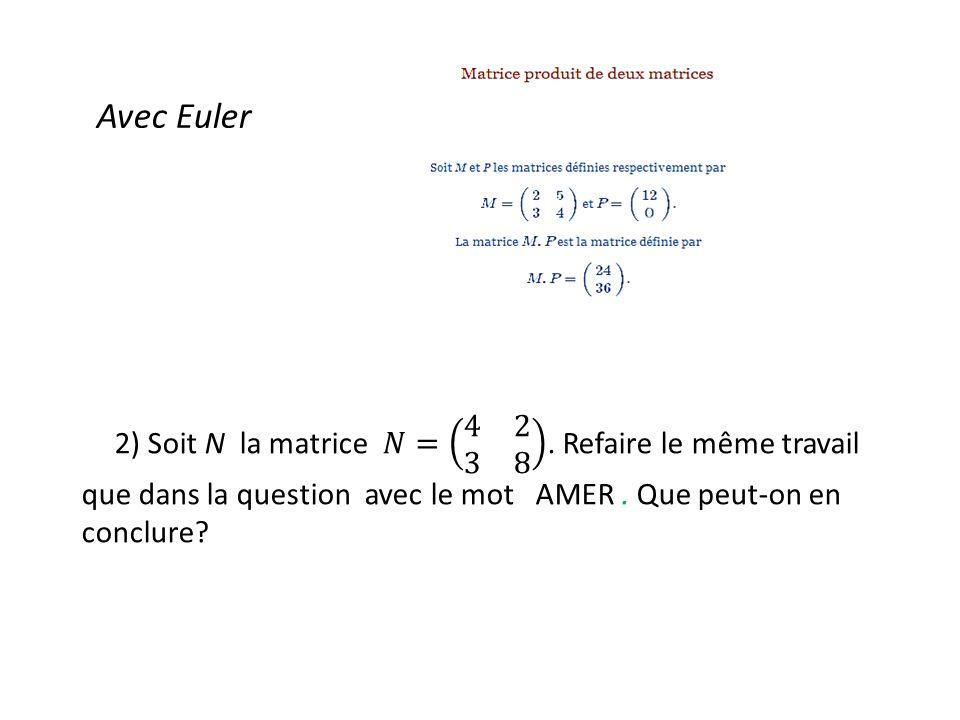 Avec Euler