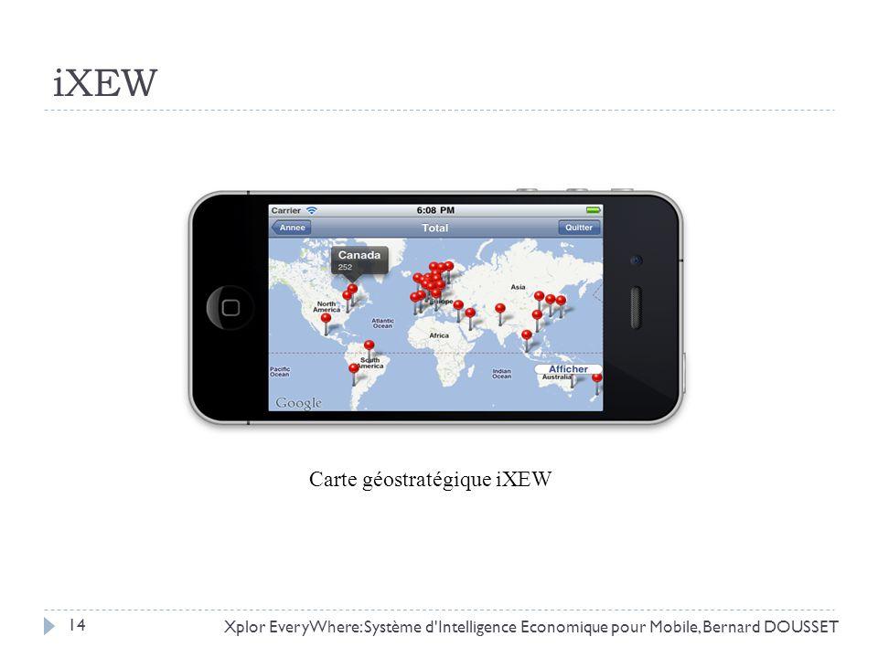 iXEW Xplor EveryWhere: Système d'Intelligence Economique pour Mobile, Bernard DOUSSET Carte géostratégique iXEW 14