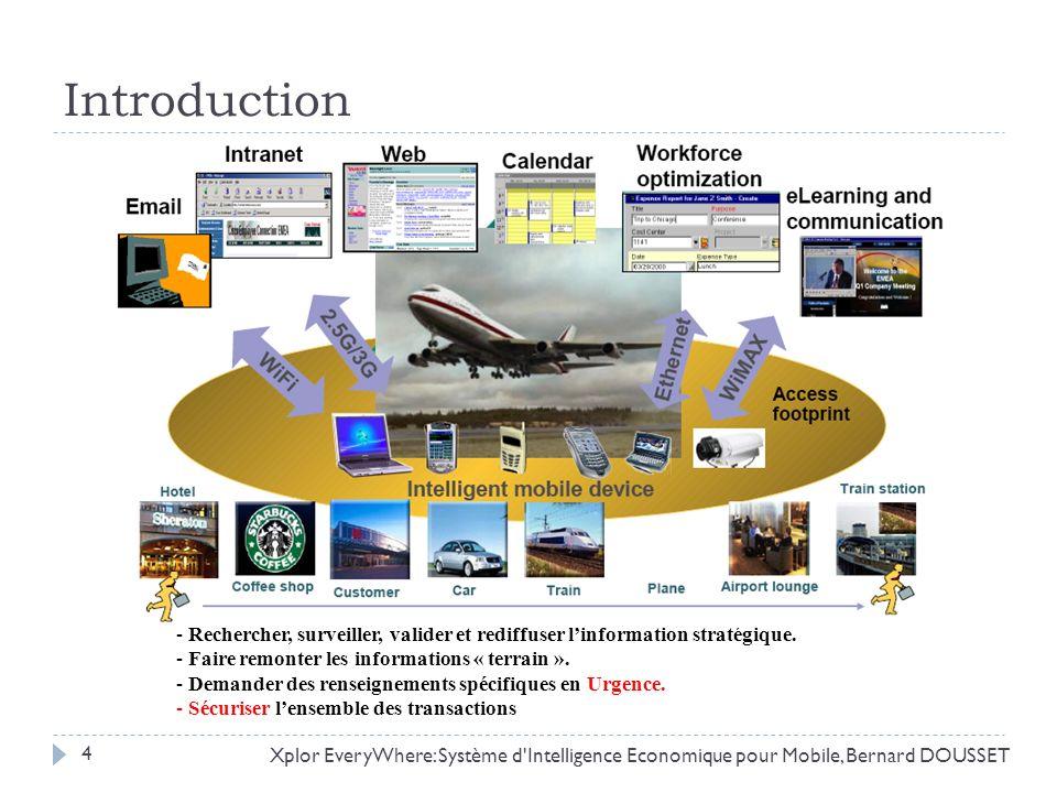 Introduction Xplor EveryWhere: Système d'Intelligence Economique pour Mobile, Bernard DOUSSET - Rechercher, surveiller, valider et rediffuser linforma