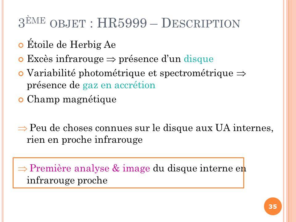 Étoile de Herbig Ae Excès infrarouge présence dun disque Variabilité photométrique et spectrométrique présence de gaz en accrétion Champ magnétique Pe