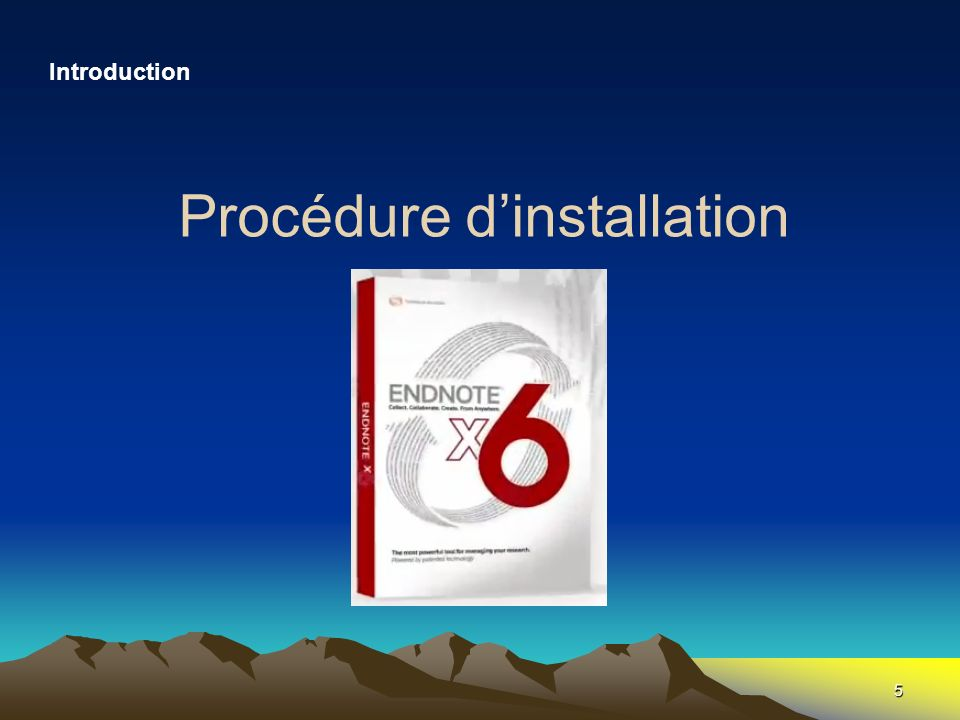 5 Procédure dinstallation Introduction