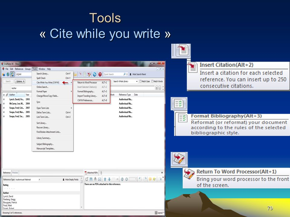 79 Tools « Cite while you write »