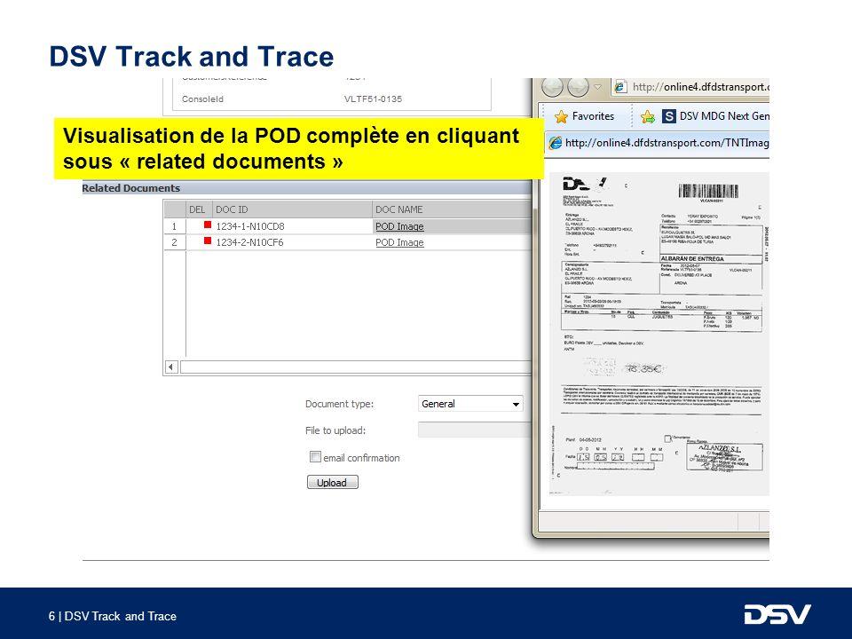 7 | DSV Track and Trace DSV Track and Trace 2.