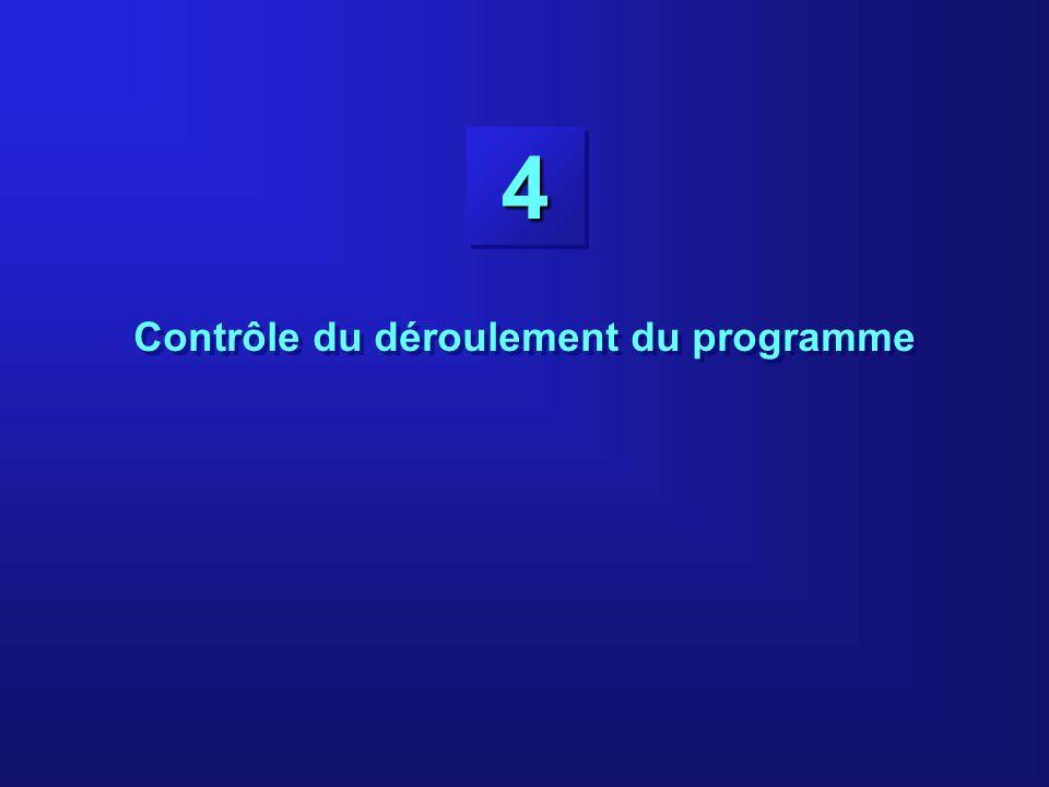44 Contrôle du déroulement du programme
