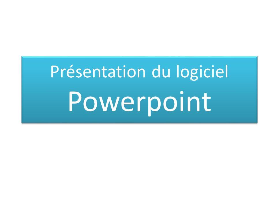 Présentation du logiciel Powerpoint