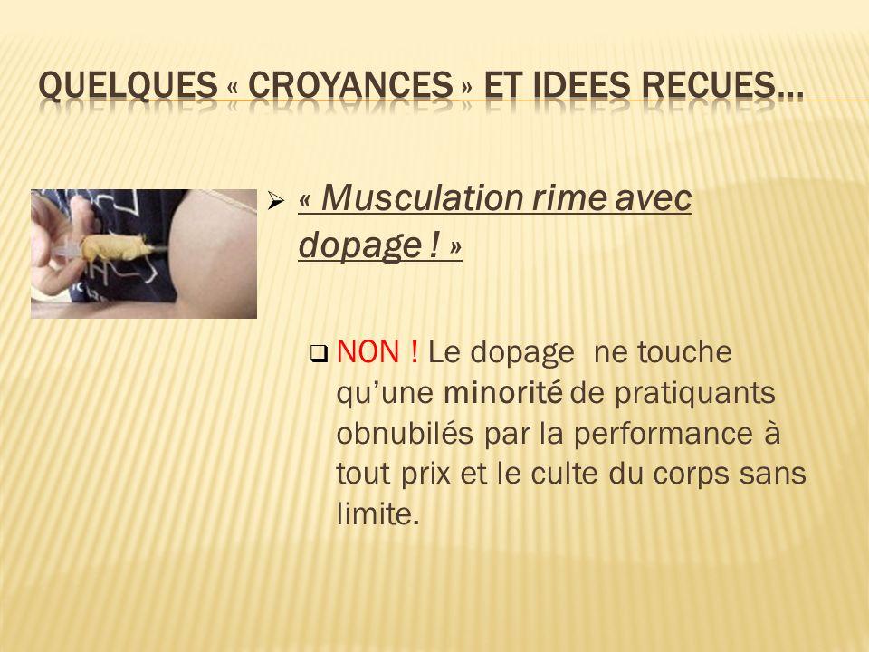 « Musculation rime avec dopage .» NON .