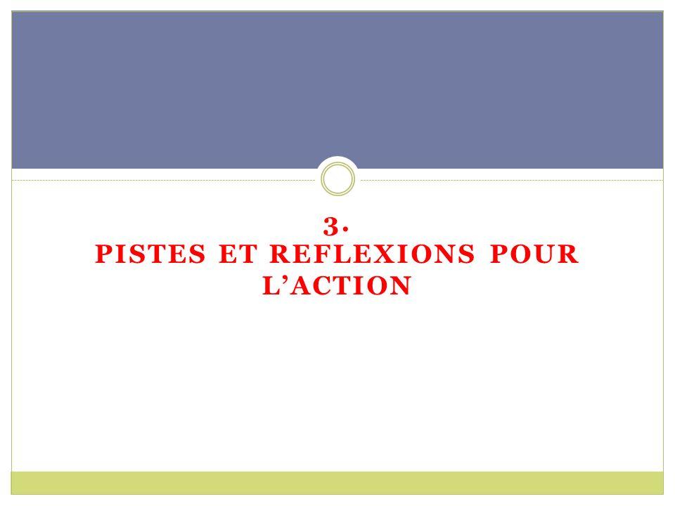 3. PISTES ET REFLEXIONS POUR LACTION