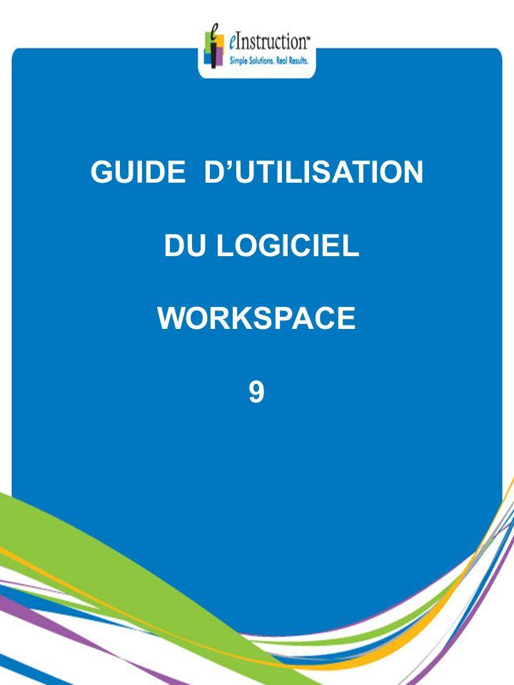 S O M A I R E 1/2 1) PRESENTATION 4 A) LA SOCIETE eInstruction (Produits Interwrite) 4 B) NOS REFERENCES 5 2) FONCTIONNALITES DU LOGICIEL6 A) INTRODUCTION6-7 B) COMPATIBILITE8 C) eInstruction outils9 D) WorkSpace Connect pour tablettes Tactiles :10-13 iPad et Androïd (nouveau) E) LE MODE SOURIS14 F) LE MODE LEÇON (mode interactif)15 F1) Les outils dannotation (2 nouveautés)15-33 F2) Les outils multimédia34-51 F3) Les outils dédition52-62 F4) Les outils de page63-74 F5) Les outils de gestion de fichiers75-83 F6) Les outils de présentation84-93 F7) Les outils de navigation94-99 F8) Les outils de configuration100-112 F9) Les outils polyvalents113-120 F10) Les outils de géométrie121-126