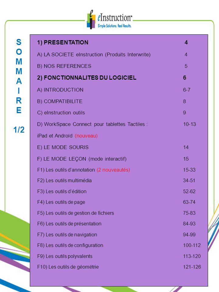 F) LE MODE LEÇON F8) Les outils de configuration : Le gestionnaire de périphériques (3/3) Les propriétés des tablettes : Possibilité de modifier les actions des touches de fonction de la tablette Possibilité de changer le nom du périphérique Possibilité de modifier la vitesse du double-clique