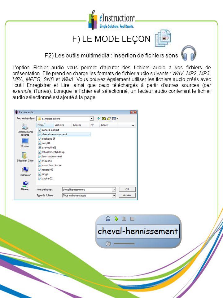L'option Fichier audio vous permet d'ajouter des fichiers audio à vos fichiers de présentation. Elle prend en charge les formats de fichier audio suiv