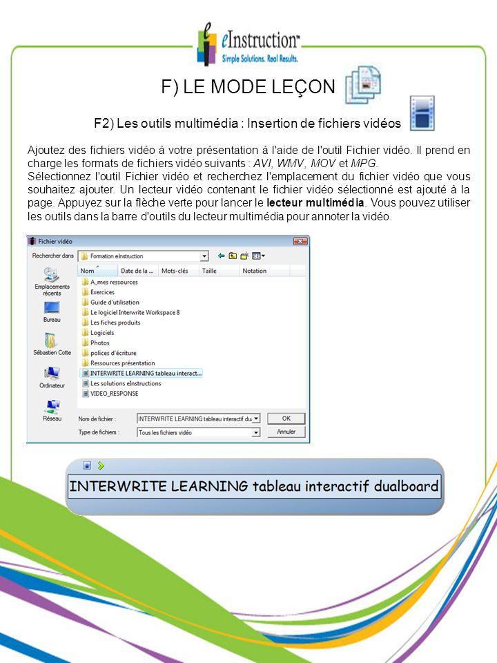 Ajoutez des fichiers vidéo à votre présentation à l'aide de l'outil Fichier vidéo. Il prend en charge les formats de fichiers vidéo suivants : AVI, WM