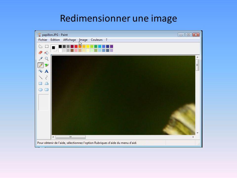 Redimensionner une image