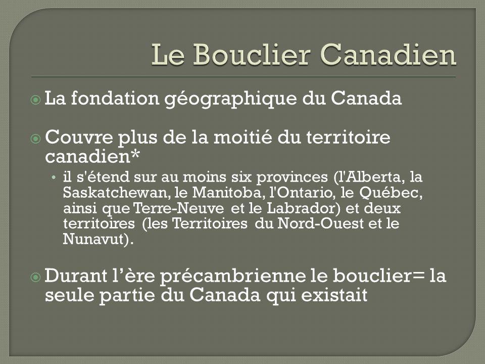 La fondation géographique du Canada Couvre plus de la moitié du territoire canadien* il s'étend sur au moins six provinces (l'Alberta, la Saskatchewan