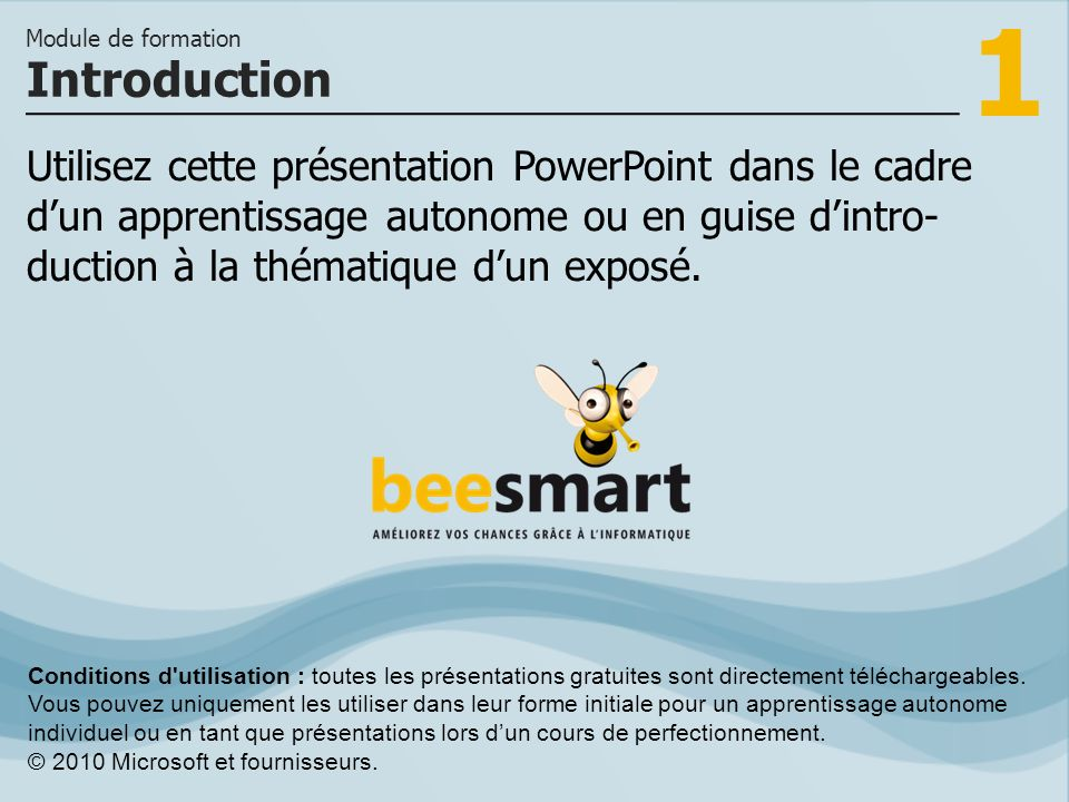 1 Utilisez cette présentation PowerPoint dans le cadre dun apprentissage autonome ou en guise dintro- duction à la thématique dun exposé. Introduction