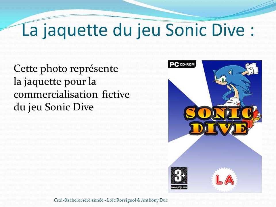 La jaquette du jeu Sonic Dive : Cs2i-Bachelor 1ère année - Loïc Rossignol & Anthony Duc Cette photo représente la jaquette pour la commercialisation f