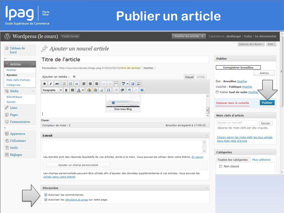 Publier un article