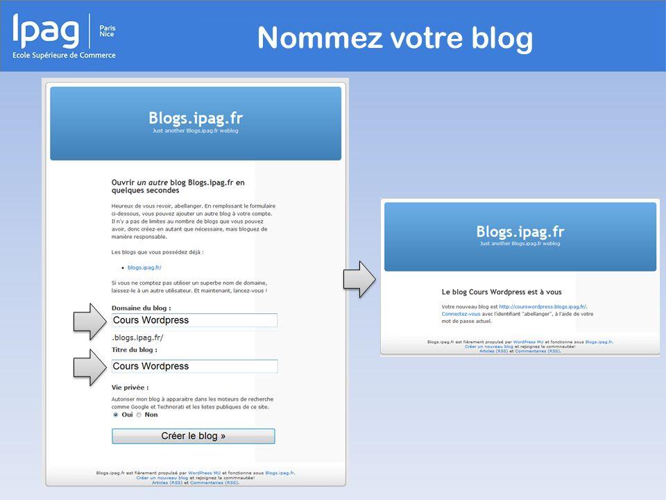 Nommez votre blog