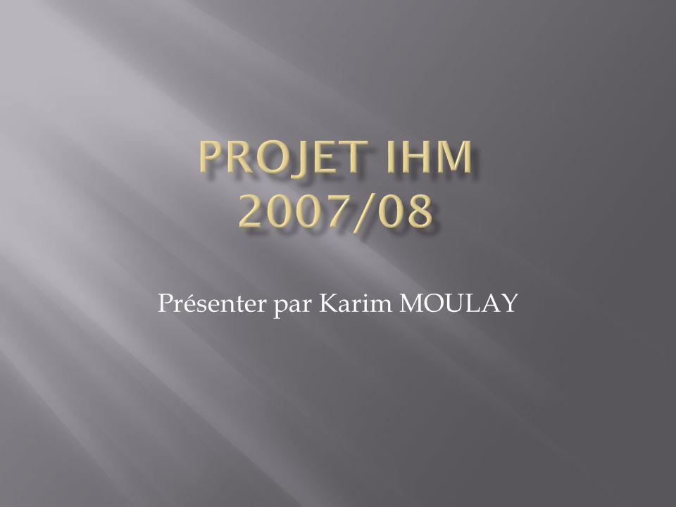 Présenter par Karim MOULAY