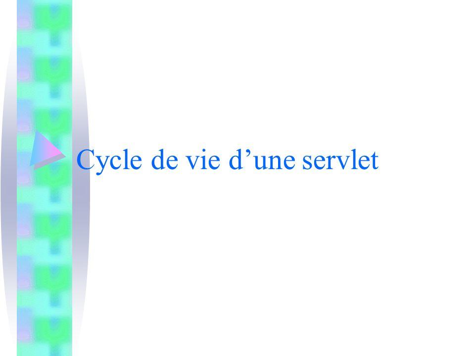 Cycle de vie dune servlet