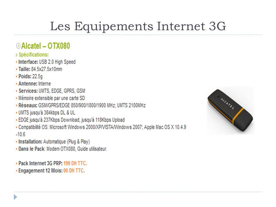 Les Equipements Internet 3G