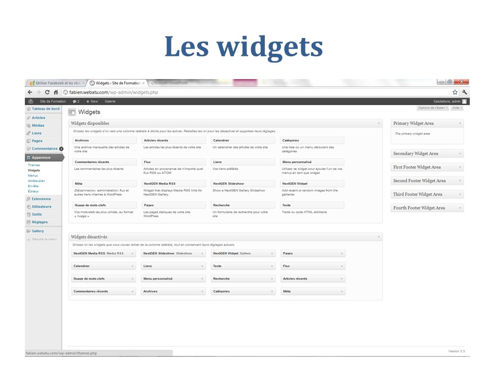 Les widgets