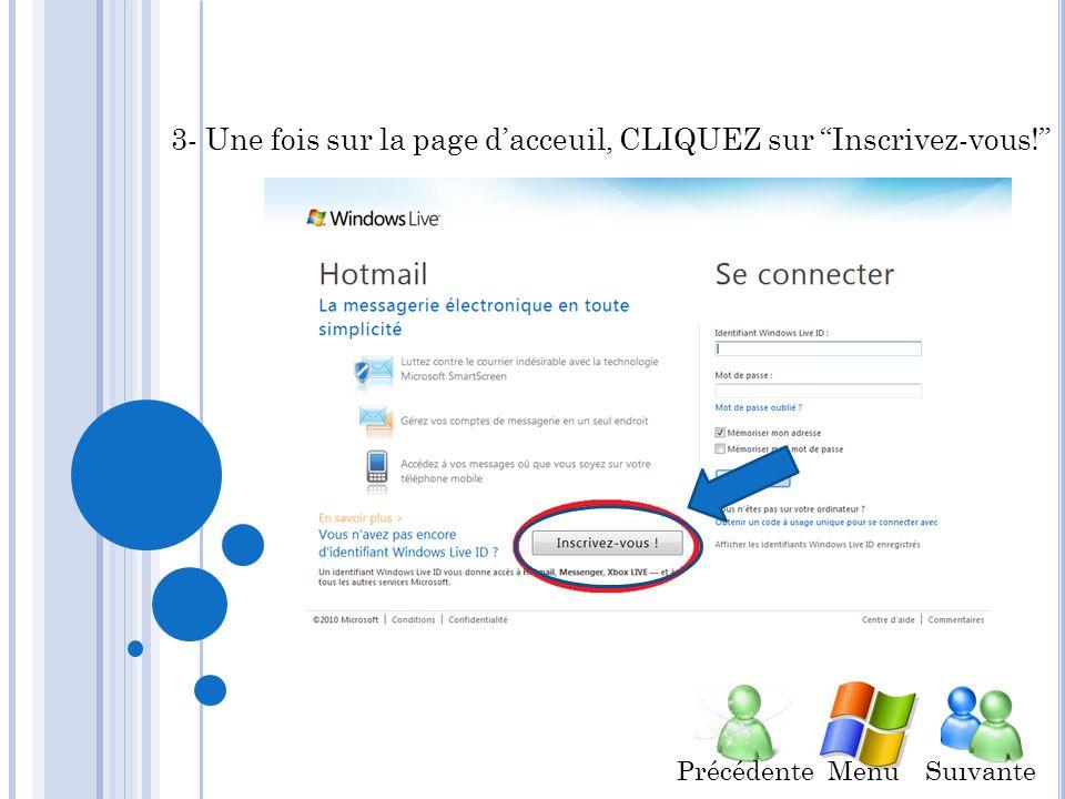 Comment créer un compte WLH. 1- OUVRIR un navigateur internet ex.