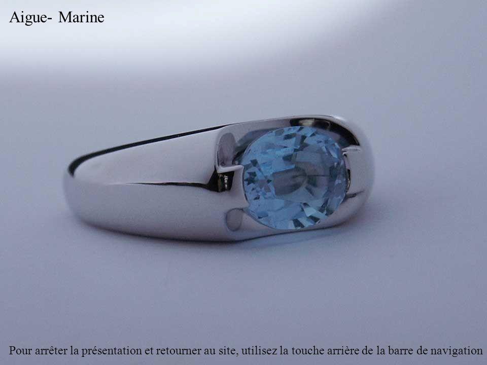 Aigue- Marine Pour arrêter la présentation et retourner au site, utilisez la touche arrière de la barre de navigation