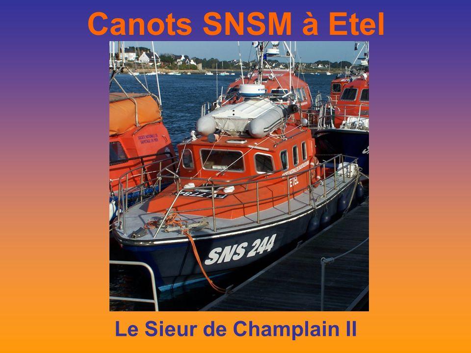 Canots SNSM à Etel Le Sieur de Champlain II
