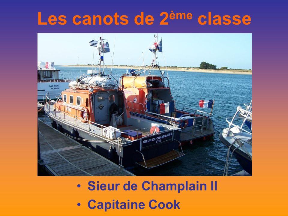 Les canots de 2 ème classe Sieur de Champlain II Capitaine Cook