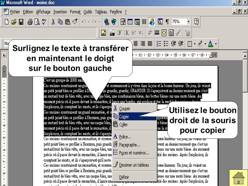 le fichier WordOuvrir le fichier Word qui comporte le texte.