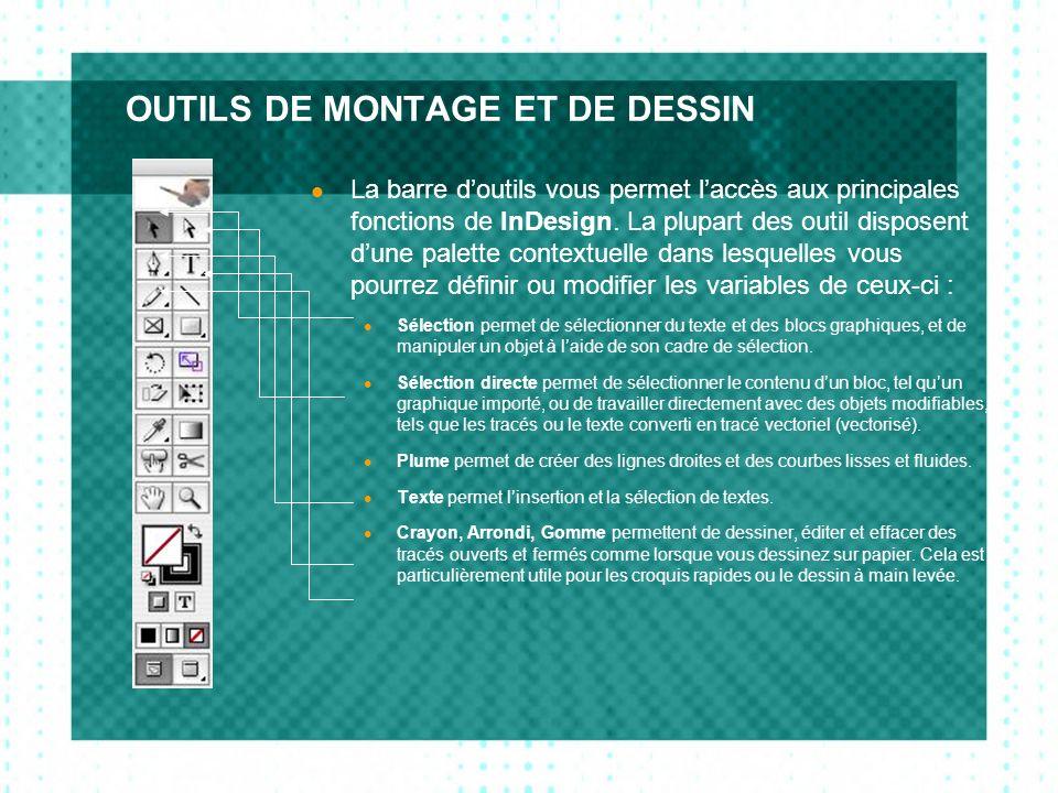 CONTRÔLE DU TEXTE Le menu typographie, évidemment, est le plus important de InDesign car il permet de contrôler toutes les opérations de texte.
