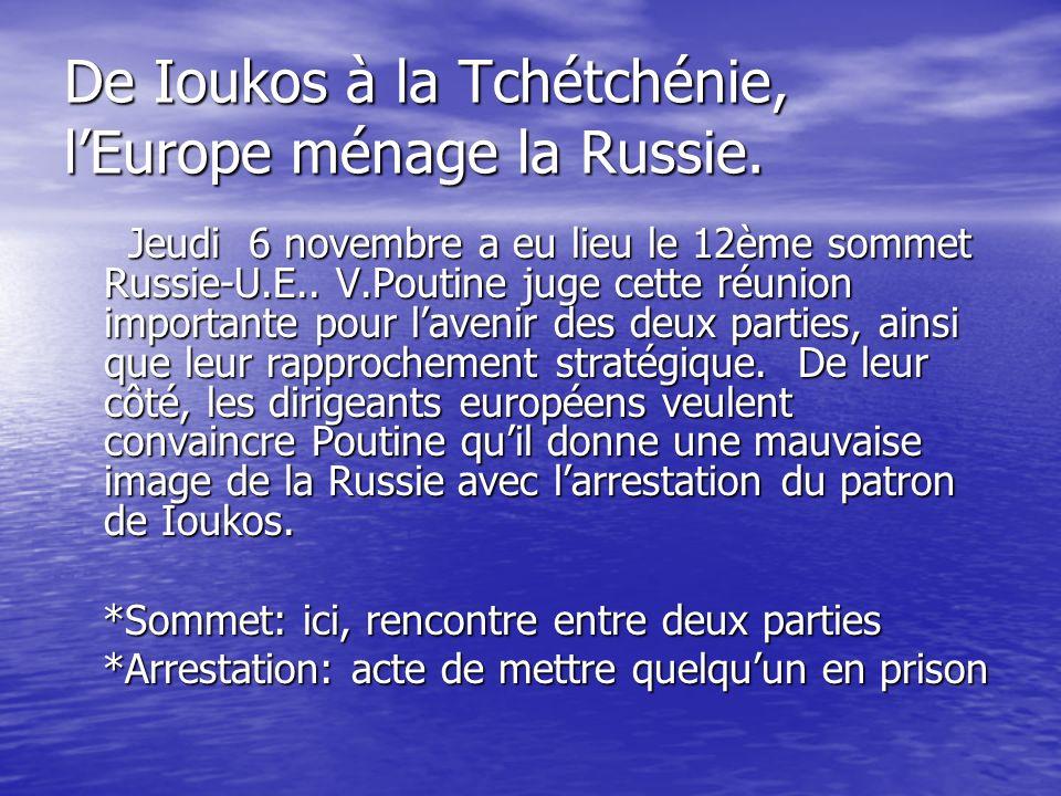 O.M.C: Pascal Lamy prévient les E.U. Mardi 4 de ce mois, P.L.a prévenu que lU.E.
