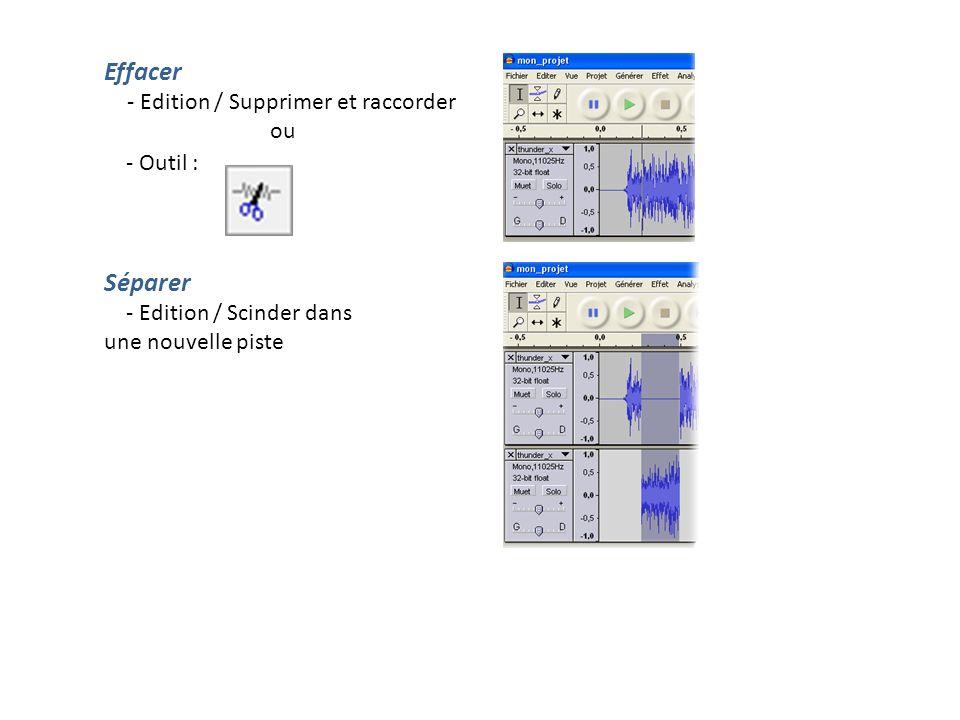 Dupliquer - Edition / Dupliquer Enregistrer la sélection Le logiciel offre la possibilité d exporter uniquement la partie sélectionnée.