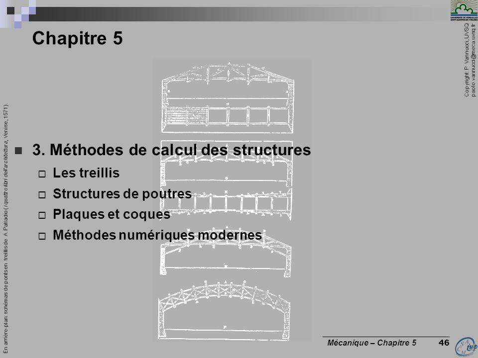 Copyright: P. Vannucci, UVSQ paolo.vannucci@meca.uvsq.fr ________________________________ Mécanique – Chapitre 5 46 Chapitre 5 3. Méthodes de calcul d