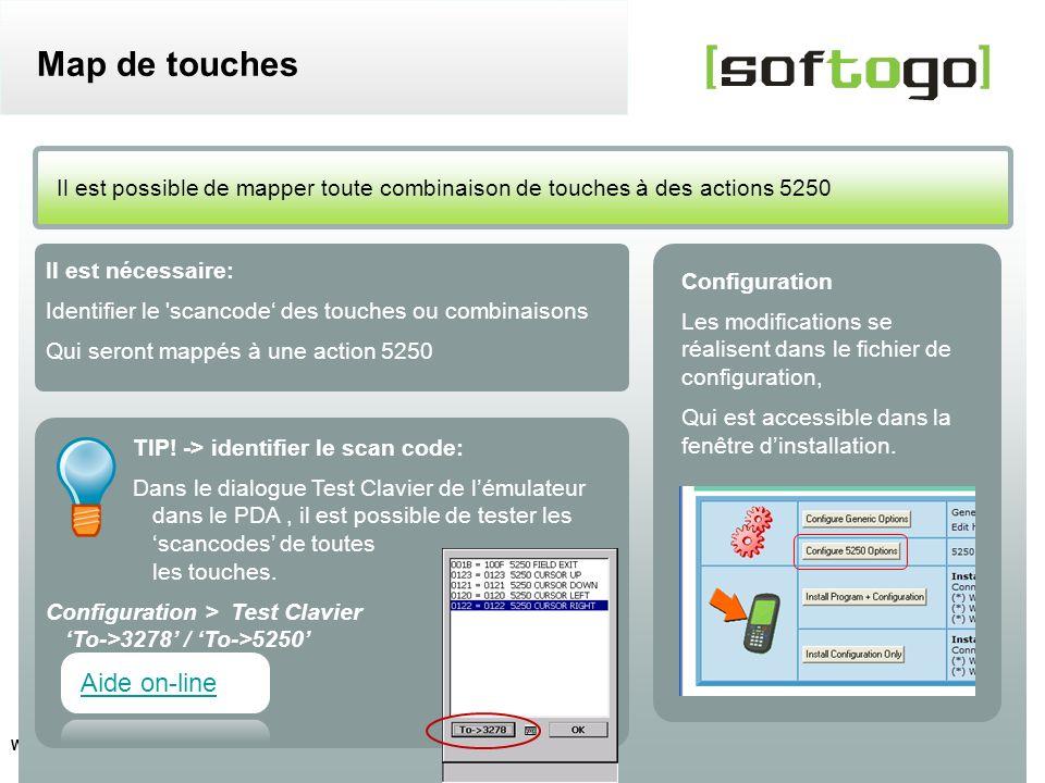 11 WireLess TelNet 52 – Guide de configuration usuelle www.softogo.com Il est nécessaire: Identifier le 'scancode des touches ou combinaisons Qui sero