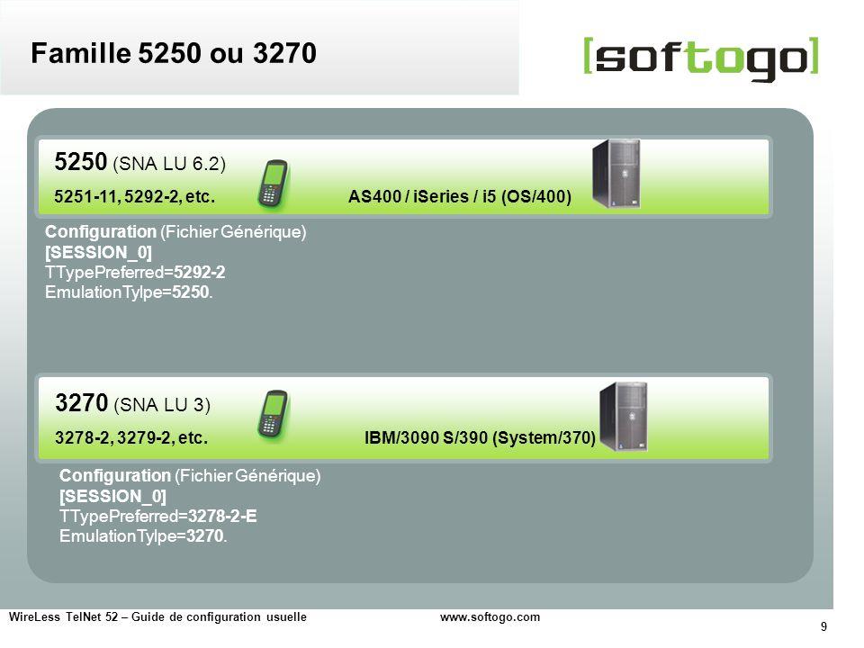20 WireLess TelNet 52 – Guide de configuration usuelle www.softogo.com Configurer par la quantité de lignes et colonnes visibles à lécran Configuration de lécran Police et taille Essayez les différents résultats, avec les différentes polices et tailles.