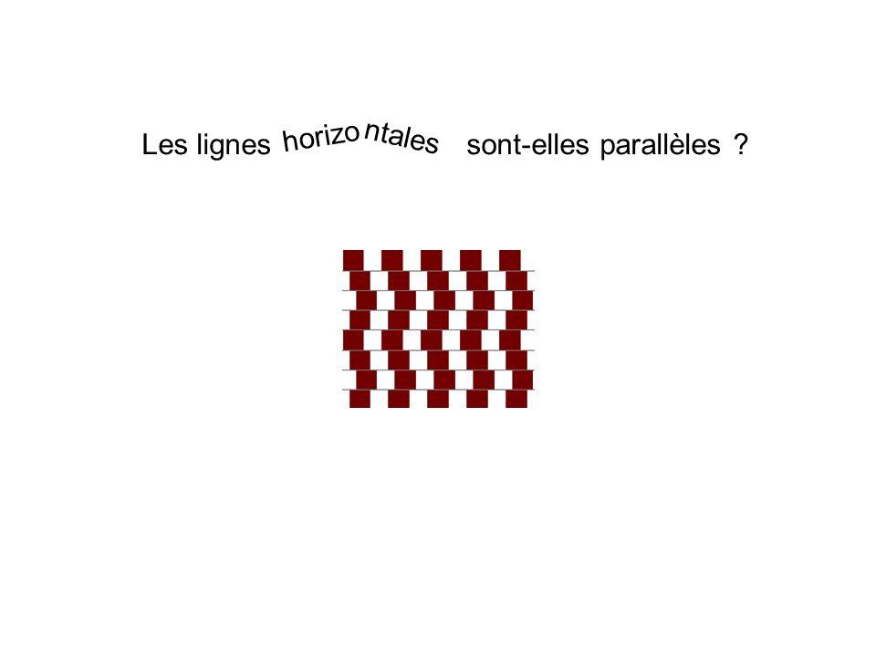 Les lignes sont-elles parallèles horizo ntales